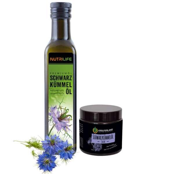 Schwarzkümmelöl ungefiltert 250ml & Salbe