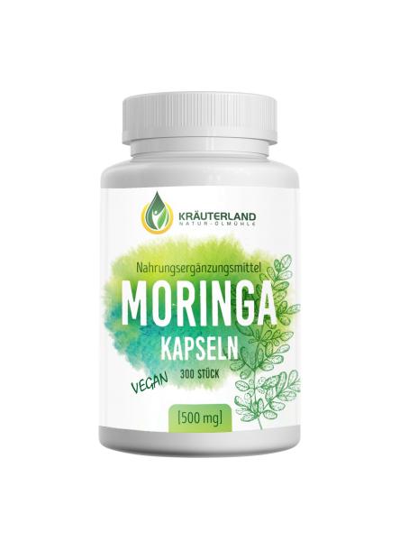Moringa Kapseln, vegan 300 Stück