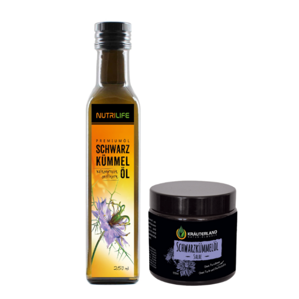Schwarzkümmelöl gefiltert 250ml + Salbe